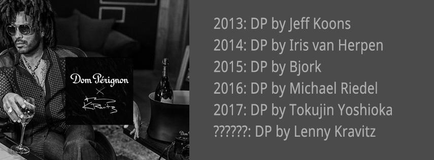 Lenny Kravitz & Dom Pérignon Limited Edition champagne