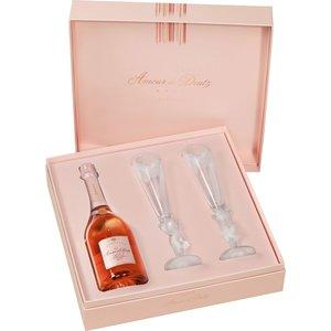 Deutz Amour de Deutz Vintage Rosé 2008 met flûtes in luxe geschenkdoos
