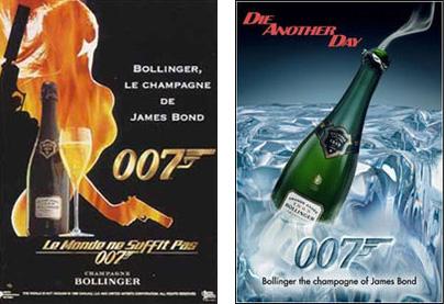 James Bond champagne
