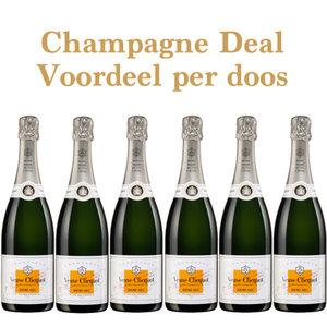 Veuve Clicquot Demi Sec aanbieding - voordeel per doosje