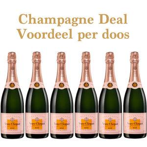 Veuve Clicquot Rosé aanbieding - voordeel per doosje