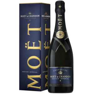 Moet & Chandon Nectar Imperial champagne in giftbox
