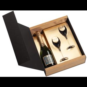 Deutz Brut 'Classic' champagne in geschenkdoos met glazen