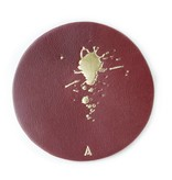 Atelier Jacques SKOLL - Leather Coasters - Red