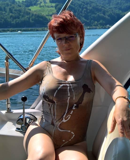 C.Fischer Eleganter Designer Badeanzug 'Botschaft'