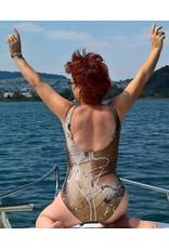 C.Fischer Stilvoller Designer Badeanzug 'Musik beflügelt'