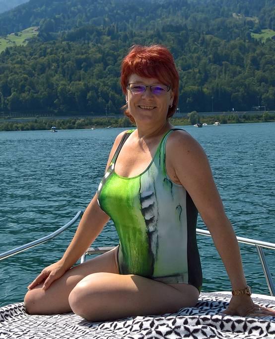 C.Fischer Edler Designer Badeanzug 'Insel der Träume'