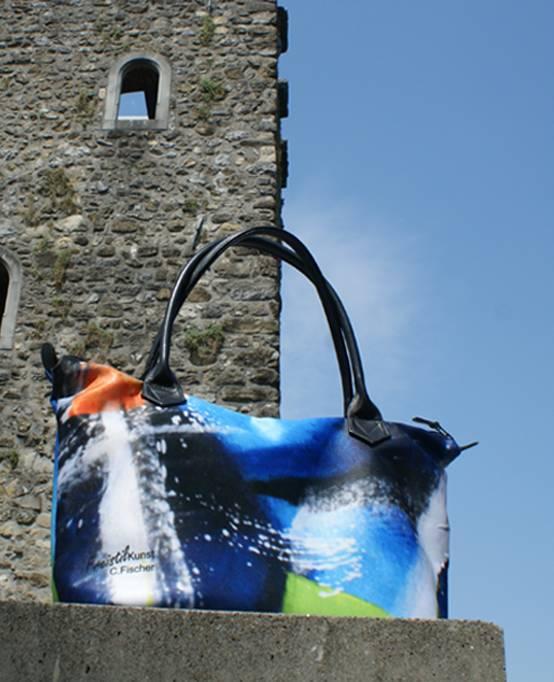 C.Fischer Elegante Designer Shoppertasche mit Reissverschluss 'Insel der Träume'