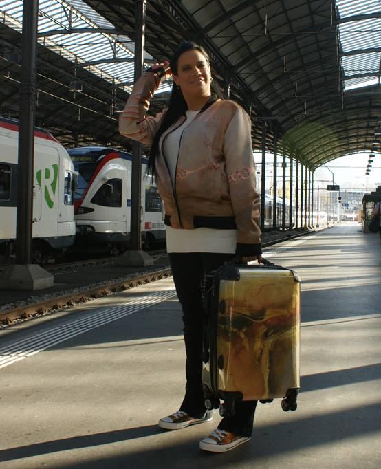 C.Fischer Exklusiver Designer Trolley Claymore 'Botschaft'
