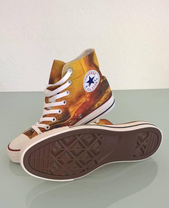 C.Fischer Designer Sneakers Converse (Chuck Taylor Low) 'Botschaft'