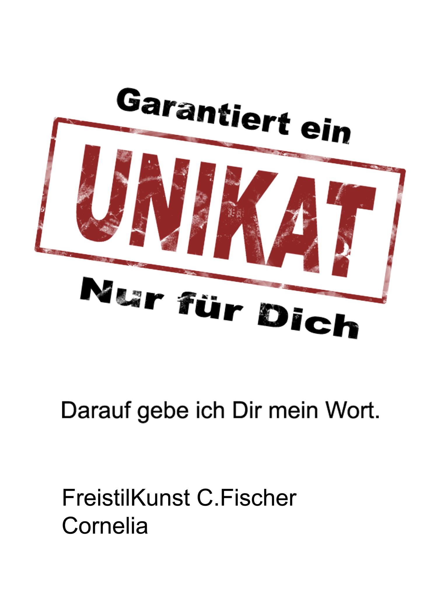 C.Fischer Charmantes Designer Brillenetui Hartschale 'Botschaft'