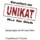 C.Fischer Edler Designer Turnbeutel 'Botschaft'