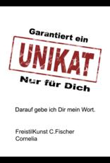 C.Fischer Stilvolle Designer Shoppertasche mit Reissverschluss 'Zuversicht'