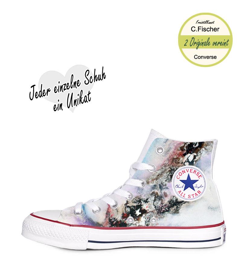 C.Fischer Designer Sneakers Converse (Chuck Taylor Classic) 'Insel der Träume'