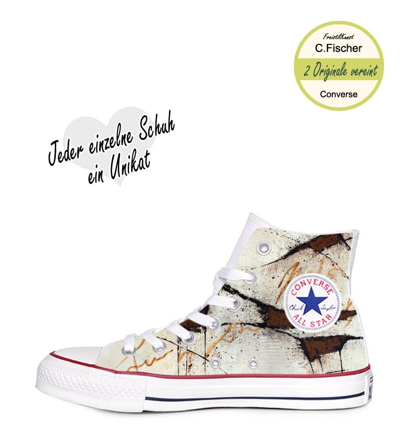 C.Fischer Designer Sneakers Converse (Chuck Taylor Classic) 'Botschaft'