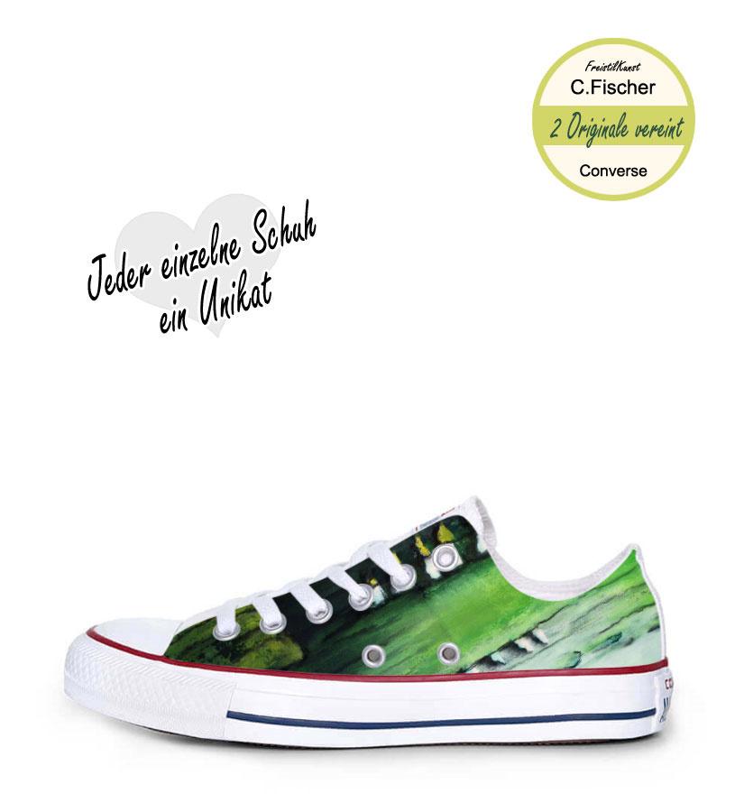 C.Fischer Designer Sneakers Converse (Chuck Taylor Low) 'Weg der Hoffnung'