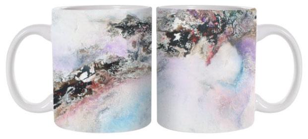 C.Fischer Wunderschöne Designer Kaffeetasse 'Insel der Träume'