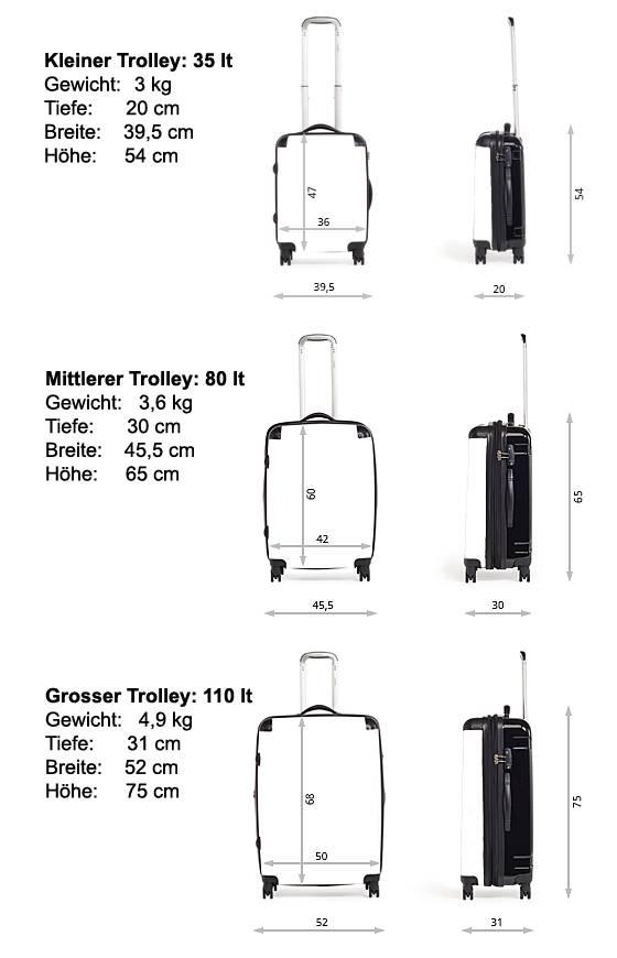 C.Fischer Beeindruckender Designer Trolley Claymore 'Innere Kraft'