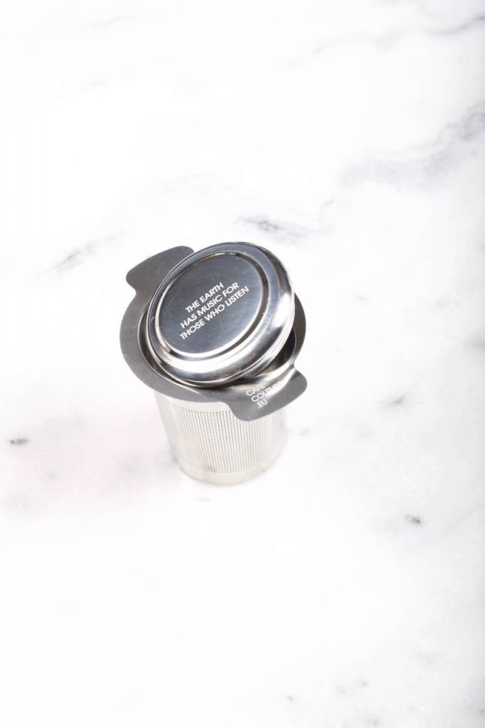 Lichte roestvrije thee filter met dubbel handvat