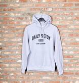 Hoodie DAILY DETOX (grijs/zwart)