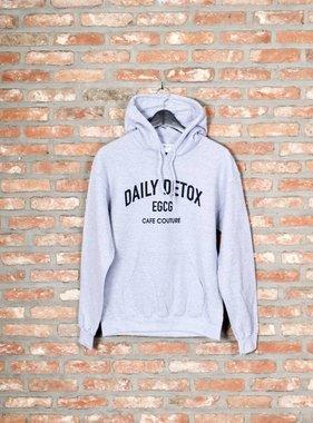 Hoodie DAILY DETOX (grey/black)