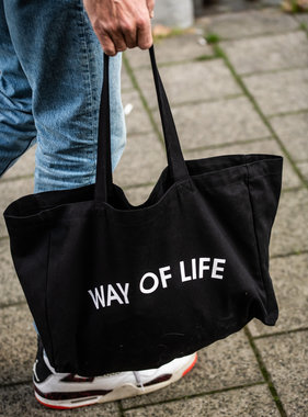 WAY OF LIFE cotton bag (zwart)