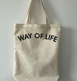 WAY OF LIFE cotton bag (wit)