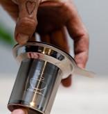 RVS theefilter met enkel handvat