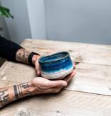 Matcha bowl - deep sea white