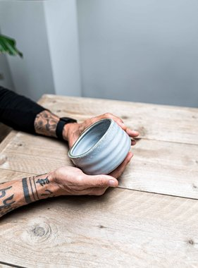 Matcha bowl - lichtgrijs