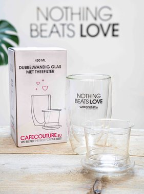Nothing Beats Love dubbelwandig glas (met filter)