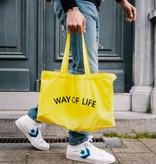 WAY OF LIFE cotton bag (geel)