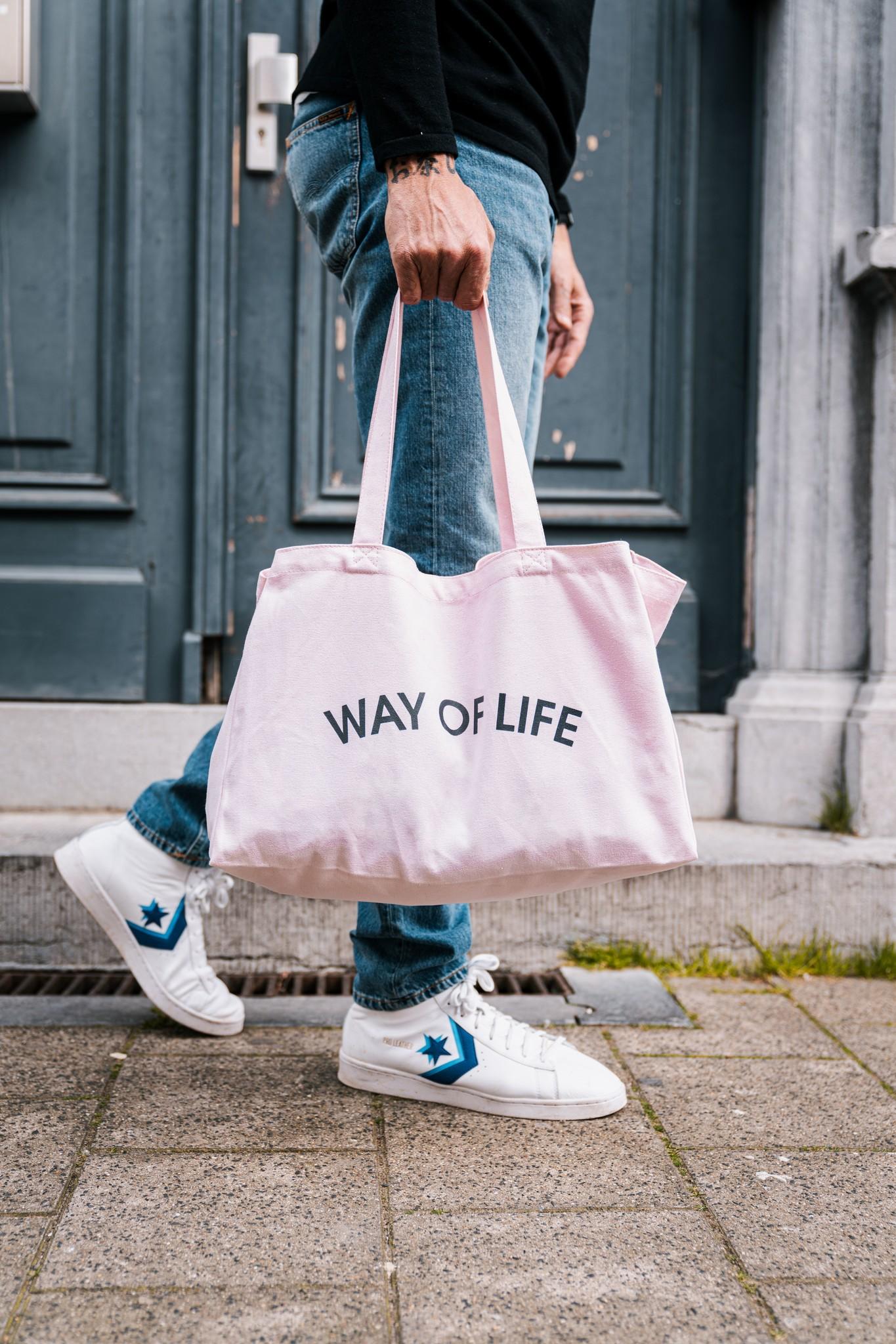 WAY OF LIFE cotton bag (roze)