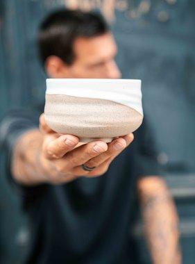 Matcha bowl - nature white
