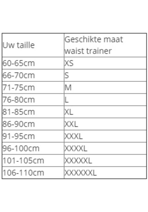 Latex Waist Trainer - Zwart