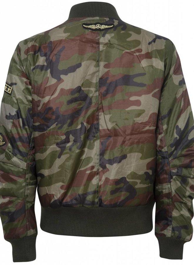 Camouflage Bomberjack met Emblemen