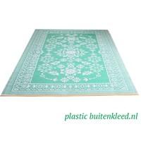 Wonder Rugs Buitenvloerkleed turquoise met wit