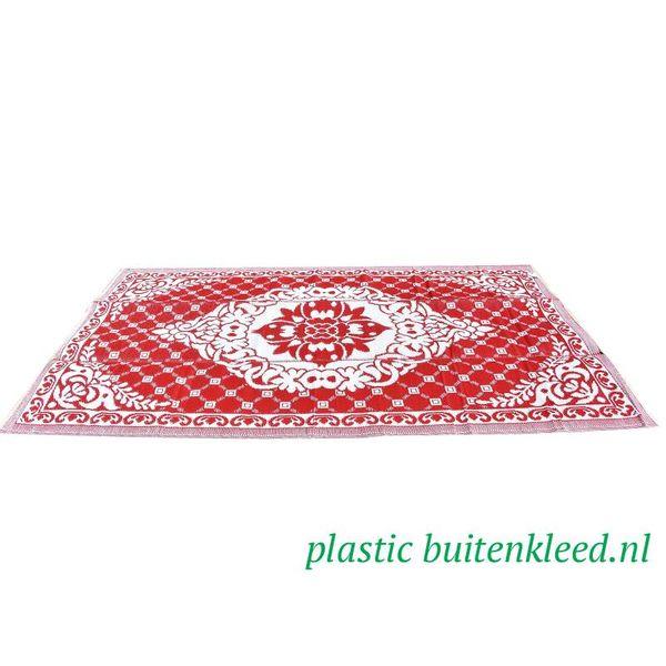 Wonder Rugs Buitenvloerkleed rood wit rozenkelim