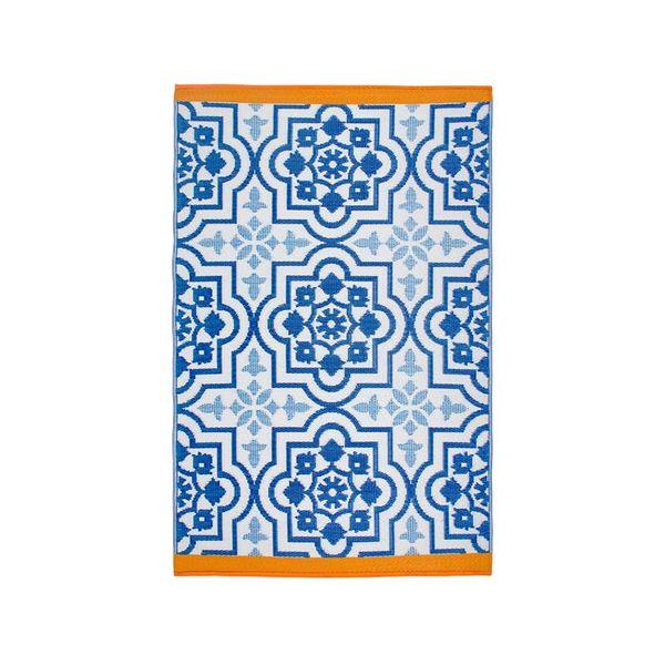 Buitenkleed mediterrane blauw