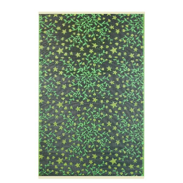 Wonder Rugs Blaadjes groen buiten vloerkleed
