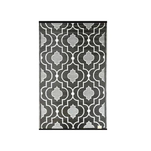 Wonder Rugs Zwart wit tuincarpet