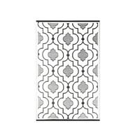 Wonder Rugs Zwart wit tuincarpet mixture