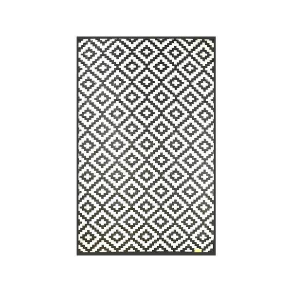 Wonder Rugs Tuincarpet extra sterk zwart wit