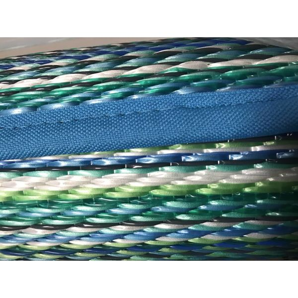 Blauw turquoise buitenkleed stripes