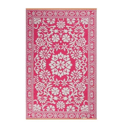 Roze wit buitenvloerkleed