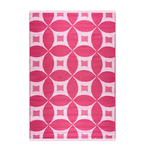 Wonder Rugs Roze wit modern buitenkleed