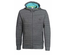 PEAK Sport Full Zip Hooded Sweater. - Donkergrijs