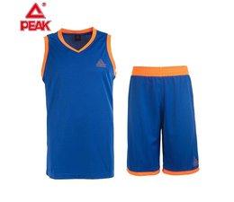 PEAK Sport Basketball Tenue Blauw/Oranje