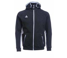 PEAK Sport Zwart/Grijze Hooded Sweater met rits, model F6804.