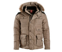 PEAK Sport Winterjas in kleur Dark Khaki